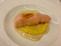 Le saumon cuit à la vapeur